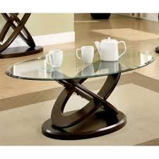 marble dining table adecc: furniture of america evalline oval glass top coffee table