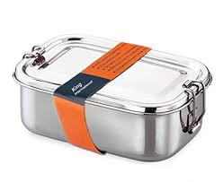 Buy King International Stainless Steel Lunch Box, Silver Online at ...