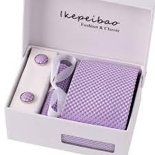 Ikepeibao <b>Custom Brand</b> Men <b>Ties</b> Purple Checked <b>Necktie Sets</b> ...