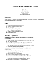 resume examples  examples of skills for a resu  axtran    resume examples  customer service sales resume example for objective with skills and working experience