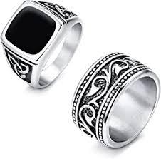stainless steel rings men - Amazon.com