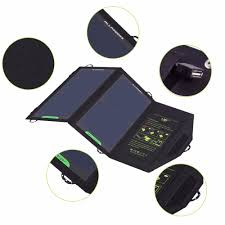 Outdoor Camping <b>Solar Charging Panel Removable</b> Folding ...
