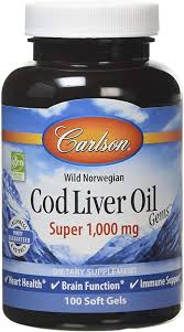 Carlson Labs <b>Wild Norwegian Cod</b> Liver Oil Gems, 1000mg Softgels ...