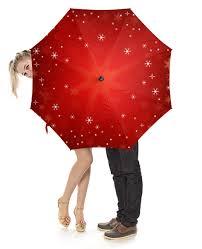 """Зонт-трость с деревянной ручкой """"<b>Снежинки</b>"""" #2237381 от Ti ..."""