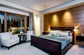 metal bed decorating ideas bedroom contemporary with beige curtain gray wall wood panel wall bedroom lighting ideas bedroom sconces