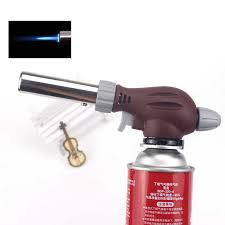 Automatic ignition <b>cassette gas torch burner</b> one-touch ignition ...