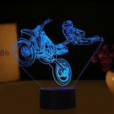 <b>DIRT BIKE MOTOCROSS</b> MOTORCYCLE 3D Acrylic LED 7 Colour ...