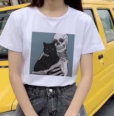 best top women tops short tee <b>cute cartoon cat</b> brands and get free ...