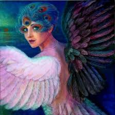 """""""<b>Wings</b> of Duality"""" Symbolic <b>art</b> peacock feather eyes angel by ..."""