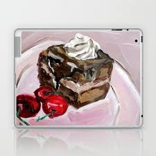 Original oil painting desert food cake <b>sweet art</b> Laptop & iPad Skin ...
