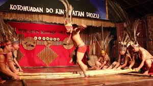blind folded headhunter warrior does bamboo dance blind folded headhunter warrior does bamboo dance
