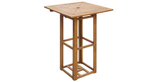 <b>Bistro Table 75x75x110</b> cm Solid Acacia Wood - Matt Blatt