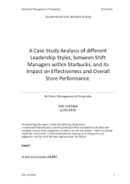 dissertaion yr3 a case study analysis of leadership differences betw