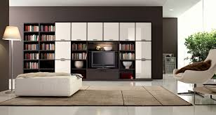 Living Room With Bookcase Open Book Shelving Decor For Private Room With Duco Furniture