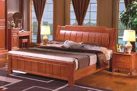 high quality china guangdong furniture solid wood frame bed bedroom furniture fashion design 18 m double rubber wood beds bed designs wooden bed