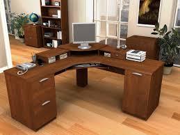 brown wood computer desk l shaped shaped wood desks home