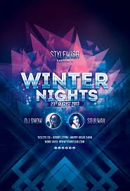 17 best images about dance and music party winter nights flyer