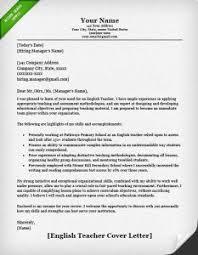 Teacher Resume Samples & Writing Guide | Resume Genius English Teacher Cover Letter