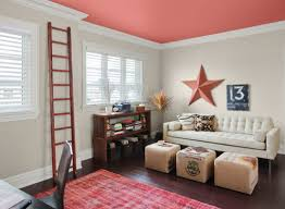 make your accent wall the ceiling beach style home office af home office