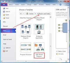 where is the uml model diagram in microsoft visio and visio in microsof visio and   it is easy to the uml model diagram by following  please click file  gt  new  and select  quot software and database quot