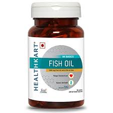 HealthKart <b>Fish oil</b> (<b>1000</b> Omega 3, with 180 <b>mg</b> EPA & 120 <b>mg</b> DHA ...