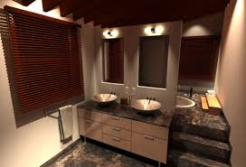 bathroom vanity mirror ideas modest classy: bathroom beige bathroom themed with window blinds and engaging marble vanity countertop feat twin bowl