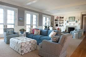 Nautical Decor Living Room Decorations Beach House Living Room Decorating Idea With Striped