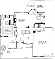 French Country Two Story Home Plan   AH   st Floor Master    Floor Plan