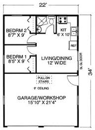 New Barn Apartment  Barn apartment   floor plan   White Horse    Garage Plans   Garage Plan With Apartment and Workshop  one level