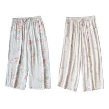 <b>Summer Women</b> Pajama <b>Pants</b> Drawstring Loose Casual Clothing ...