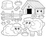 Детские картинки домашних животных раскраски