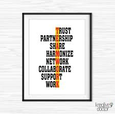 teamwork quote office wall art success quotes printable office quotes canvas quote office decor motivational wall decor office motivation teamwork quotes