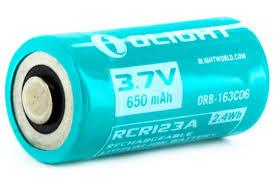 <b>Аккумулятор Li-ion Olight ORB-163C06</b> 16340 3,7 В. 650 mA ...