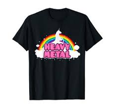 Unicorn Heavy Metal T-Shirt: Clothing - Amazon.com