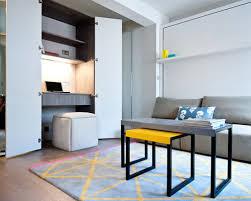 living room office combination. small contemporary builtin desk medium tone wood floor study room idea in london with living office combination s