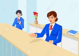front desk receptionist clipart clipartfox receptionist desk women