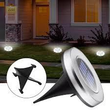 <b>8 LED Solar</b> Lights Home Garden Under Ground Lamp Solar Power ...