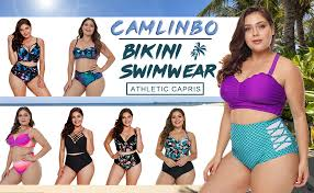 2019 Women's Plus Size Swimsuit High Waisted ... - Amazon.com