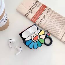 <b>Rainbow</b> Flower <b>Headphone Cases</b> for Apple Airpods 1/2/3 <b>Silicone</b> ...
