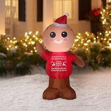 Gemmy Industries <b>Airblown Inflatable Gingerbread Man</b> 4 Feet Tall ...