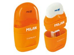 ТОЧИЛКА + ЛАСТИК <b>MILAN</b> CAPSULE MIX 4701236 ЦЕНА | pigu.lt