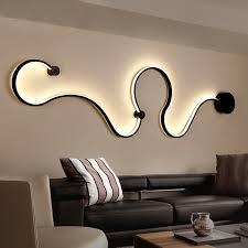<b>Modern minimalist creative wall</b> lamp black/white led indoor living ...