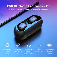 <b>QCY T1C True Wireless</b> Bluetooth Earphones Global Black NEW ...