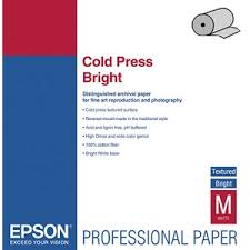 <b>Epson Fine Art Paper</b> Cold Press Bright 24 305 г/м2, 0.610x15 м, 76 ...
