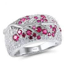 <b>2019 Seanlov 2019</b> Crystal Leaves Rings For Women Shiny Zircon ...