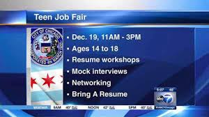 chicago park district to host teen job fair at ier field teen job fair to be held at ier field saturday