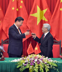 Image result for xi jinping and nguyen phu trong