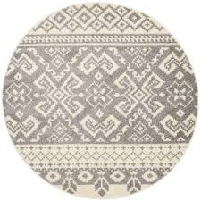 safavieh adirondack ivorysilver 4 ft x 4 ft round area rug california shag black 4 ft