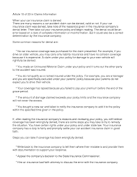 insurance claim denial letter printable documents denied insurance claim by