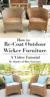arrange patio furniture walmart how to refresh aged or worn wicker furniture by recoating with a solid